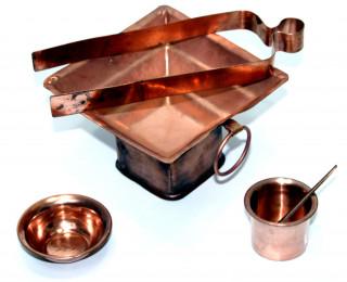 Homa-Set 6 teilig aus Kupfer