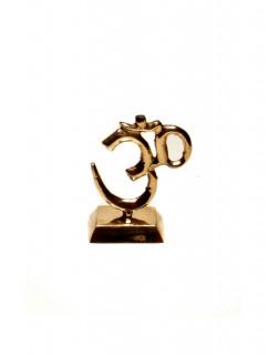 OM Symbol aus Messing zum Aufstellen ~ 8 cm