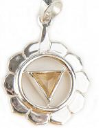 3. Chakra Anhänger aus Silber mit Citrin