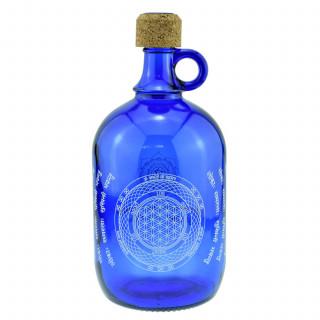 2-Liter Devi Water Henkelflasche mit der Blume des Lebens