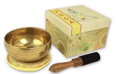 Klangschale in Chakren-Box Yoga, Set, 400-450g