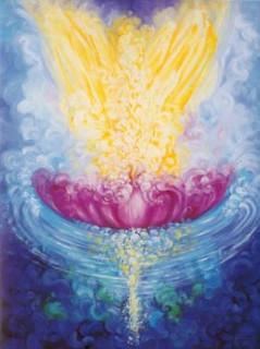 Engelkarte-Lotus