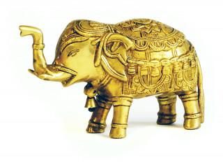 Elefant aus Messing 11 cm hoch - Unikat