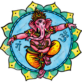 "Fensterbild ""Ganesha"""