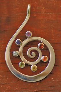 Kundalini-Anhänger aus Silber
