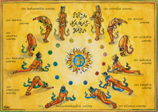 Shakti Poster: Surya Namaskara