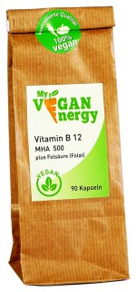 My Vegan Energy Vitamin B12 500µg plus Folsäure 90 Kapseln