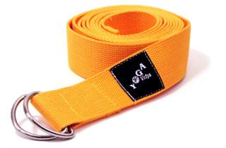 Yogagurt aus Bio-Baumwolle, gelb ~ 250 x 3,8 cm