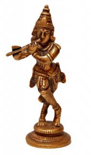 Krishna Murti ~ 12 cm, Messing