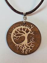 Baum mit Mondsichel, Ahornholz Ø35mm