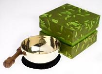 Klangschale in grüner Reispapierbox, Set, 200-250g
