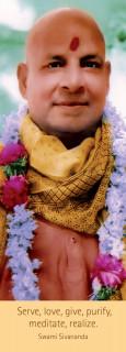 """Lesezeichen """"Sivananda mit Blumengirlande"""""""