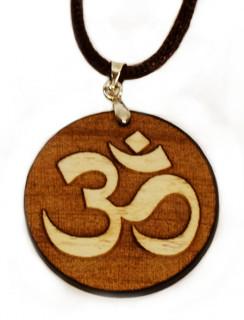 OM Symbol aufgesetzt auf 4mm Ahornholz