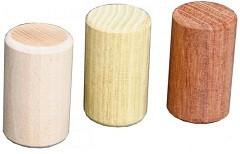 Mini-Shakerzylinder aus Holz, Hoch 6 cm, Durchmesser 3,7 cm