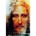 Jesus Abbild, rekonstruiert nach dem Turiner Grabtuch; Länge 127 mm Breite 189 mm