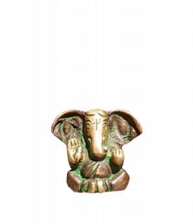 Ganesha Murti ~ 3 cm, Messing Patina Look