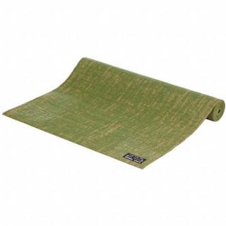 Jute-Yogamatte olivgrün 183 x 60 cm - 4 mm