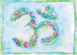 """Kunstkarte """"Blooming OM"""""""