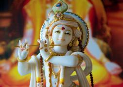 """Postkarte """"Krishna mit Flöte"""""""