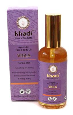 Khadi Viola Gesichts- und Körperöl, 100ml