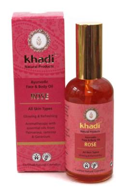 Khadi Rose Gesichts- und Körperöl, 100 ml