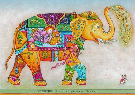 Shakti Poster: Happy Elephant