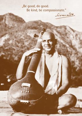 Poster: Sivananda an der Tambura
