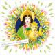 """""""Parvati und Ganesha"""" Mandala"""
