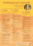Ernährung nach Ayurveda Poster A3