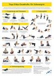Yoga Übungsplan für Schwangere (A3)