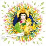 Parvati und Ganesha - Mandala