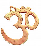 OM Symbol aus Messing zum Aufhängen ~ 11cm