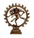 Shiva Nataraj Murti ~ 16 cm, Messing