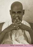 Postkarte - Swamiji is watching you!