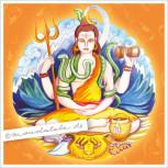 """Shiva - der Glücksverheißende"" Mandala"