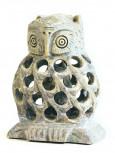 Eule aus Speckstein 8 cm hoch - Unikat