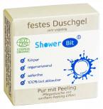 Rosenrot ShowerBit Pur - festes Duschgel mit Peeling 60g