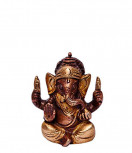 Ganesha Murti ~ 6 cm, Messing Kupfer Look