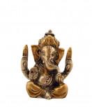 Ganesha Murti ~ 6 cm, Messing versilbert