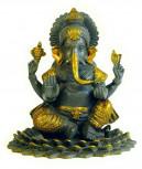 Ganesha patiniert 20,5 cm hoch - Unikat