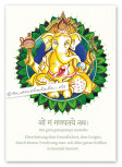 Poster: Ganesha (weiß)