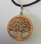 Baum des Lebens, filigran aus Zirbenholz gelasert