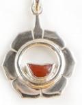 2. Chakra Anhänger aus Silber mit Karneol