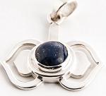 6. Chakra Anhänger aus Silber mit Lapislazuli