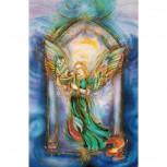 Engelkarte-Musizierender Engel