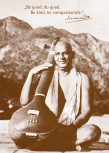"""Postkarte """"Swami Sivananda mit Tambura"""""""
