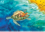 Shaktiposter A3 Schildkröte