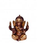 Ganesha Murti ~ 6 cm, Messing Kupfer Look