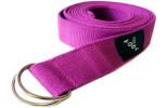 Yogagurt violett ~ 250 x 3,8 cm ~ Bio-Baumwolle
